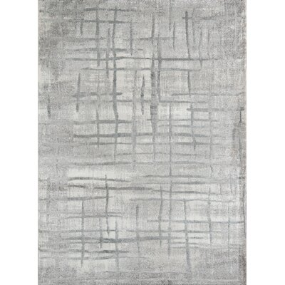 Northwick Power Loom Indoor Gray Area Rug Rug Size: Rectangle 76 x 96