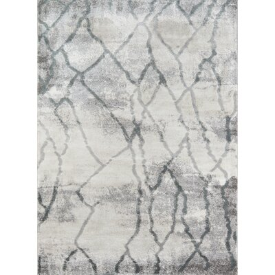 Northwick Modern Indoor Gray Area Rug Rug Size: Rectangle 76 x 96