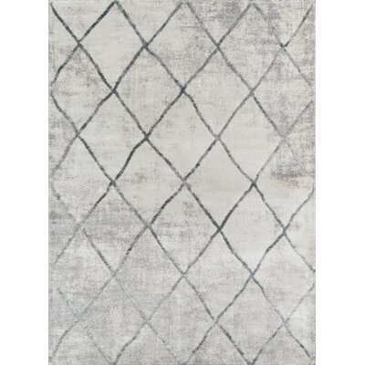 Northwick Indoor Gray Trellis Area Rug Rug Size: Rectangle 86 x 116