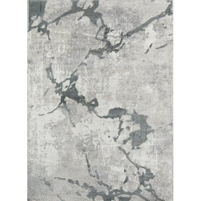 Northwick Modern Power Loom Indoor Gray Area Rug Rug Size: Rectangle 76 x 96
