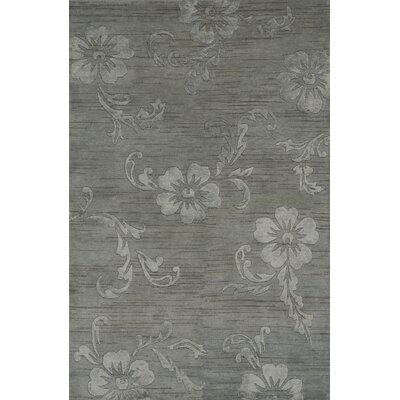 Kennemer Hand Knotted Blue Area Rug Rug Size: Rectangle 96 x 136