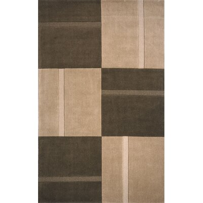 Cartwright Hand Tufted Wool Brown Area Rug Rug Size: Rectangle 33 x 53