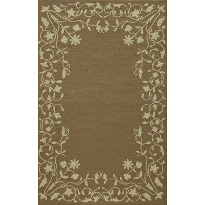 McMahon Hand Hooked Latte Area Rug Rug Size: Rectangle 39 x 59