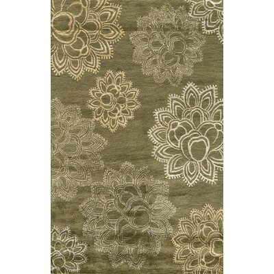 Marksbury Hand Tufted Wool Olive Area Rug Rug Size: Rectangle 5 x 8
