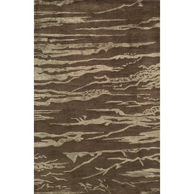 Zen Hand Tufted Wool Brown Area Rug Rug Size: 8 x 11