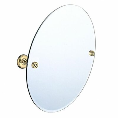 Villa Bathroom Mirror Finish: Polished Brass