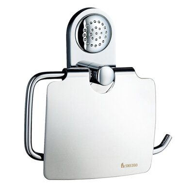 Smedbo Club European Style Wall Mount Toilet Paper Holder with Lid GS3414K