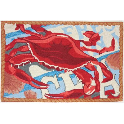 Fresh Catch Crab Red/Blue Area Rug