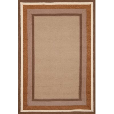 Newport Desert Sand Border Indoor/Outdoor Area Rug Rug Size: 83 x 116