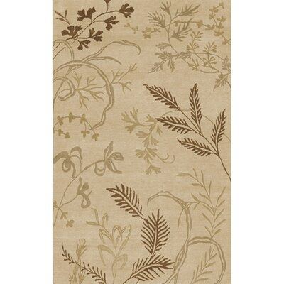 Howland Beige Floral Area Rug Rug Size: Rectangle 9 x 13