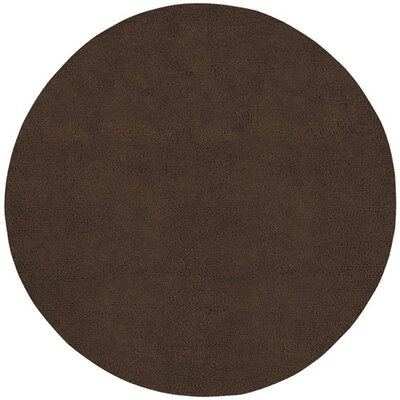 Bonney Hand Woven Wool Brown Area Rug Rug Size: Round 10