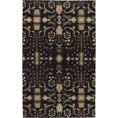 Haynes Black Area Rug Rug Size: Rectangle 2 x 3