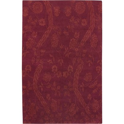 Haynes Red Area Rug Rug Size: Rectangle 5 x 8