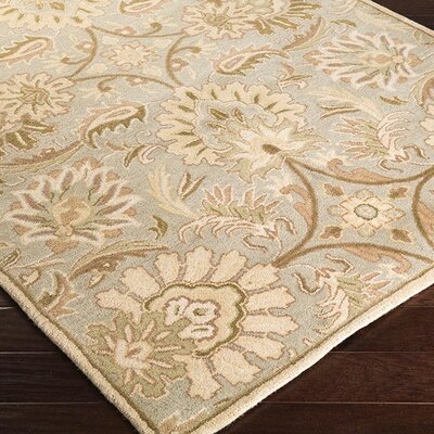 """Surya Caesar Turtle Green Floral Area Rug - Rug Size: Square 9'9"""""""