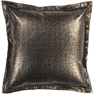 Mangum 100% Leather Throw Pillow Size: 22, Fill Material: Polyester