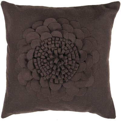 Higgins Blooming Flower Throw Pillow Size: 22, Fill Material: Down