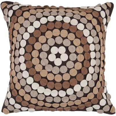 Acropolis Throw Pillow Size: 22 H x 22 W x 4 D, Color: Brown, Filler: Polyester