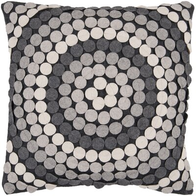 Acropolis Throw Pillow Size: 22 H x 22 W x 4 D, Color: Gray, Filler: Polyester
