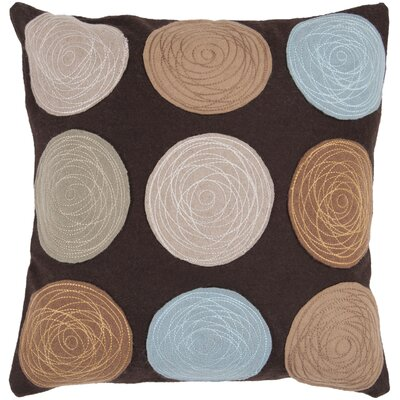 Soothing Throw Pillow Color: Dark Brown, Size: 22