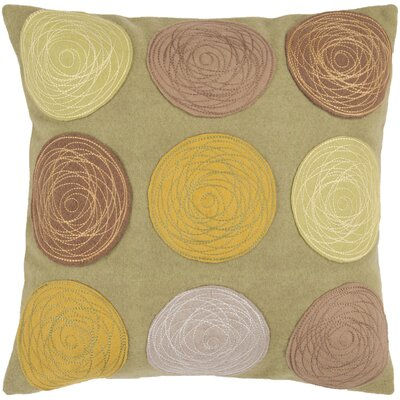 Courtland Soothing Throw Pillow Size: 22 H x 22 W, Color: Mustard, Filler: Down