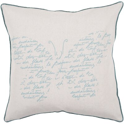 Delmi Synthetic Throw Pillow Size: 22 H x 22 W, Filler: Down