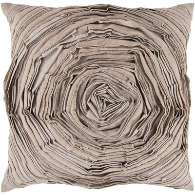 Baudemont Budding Flower Cotton Throw Pillow Size: 22 H x 22 W x 4 D, Filler: Down