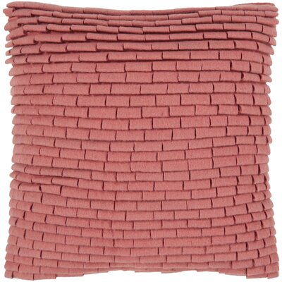 Getchell Brick Throw Pillow Size: 18, Color: Persimmon, Fill Material: Polyester