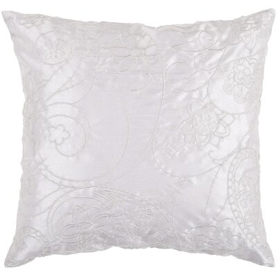 Helena Stich Throw Pillow Color: Flint Gray/Sky Gray, Fill Material: Polyester
