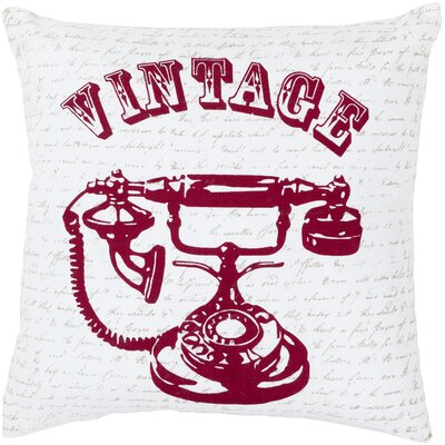 Adair Vintage Cotton Throw Pillow Size: 22, Filler: Polyester