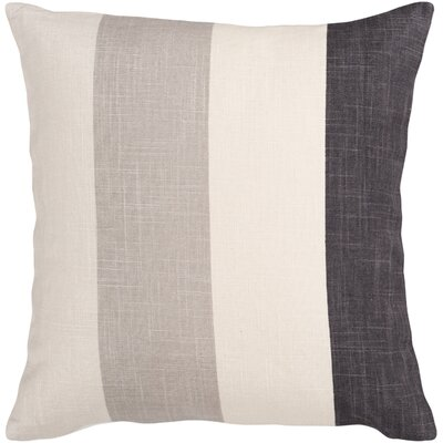 Steele Zipper Closure Stripe Throw Pillow Color: Cream/Black/Ivory/Taupe , Size: 22, Filler: Polyester