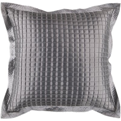Crispin Tiles Throw Pillow Size: 22 H x 22 W x 4 D, Color: Gray, Filler: Down