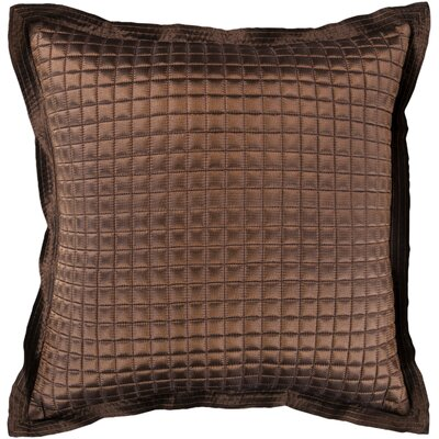 Crispin Tiles Throw Pillow Size: 22 H x 22 W x 4 D, Color: Mushroom, Filler: Down