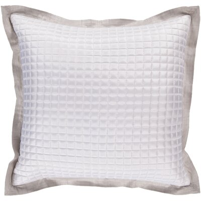 Crispin Tiles Throw Pillow Size: 22 H x 22 W x 4 D, Color: Feather Gray / White, Filler: Down