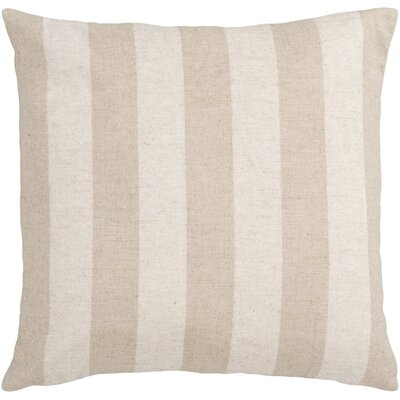 Smooth Stripe Linen Throw Pillow Size: 22 H x 22 W, Filler: Polyester