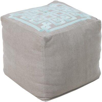 Cheyanna Pouf Ottoman Upholstery: Flint Gray/Robins Egg Blue