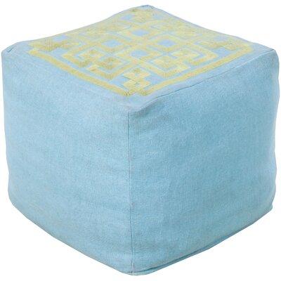 Beth Lacefield Glowing Pouf Ottoman Upholstery: Sky Blue/Fern Green