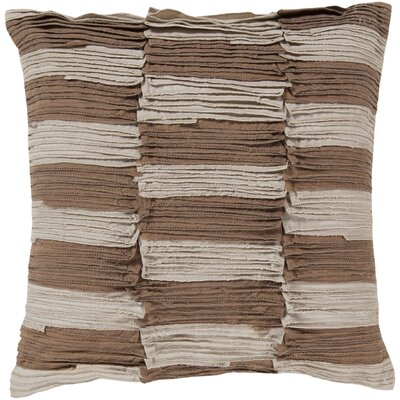 Maolis Rustic Ruffle Cotton Throw Pillow Size: 22, Fill Material: Down