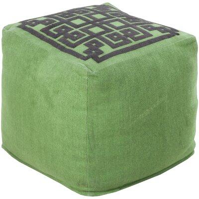Cheyanna Pouf Upholstery: Peridot/Coal Black
