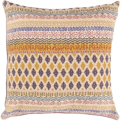 Decorative Dreams Cotton Throw Pillow Size: 18 H x 18 W, Fill Material: Polyester