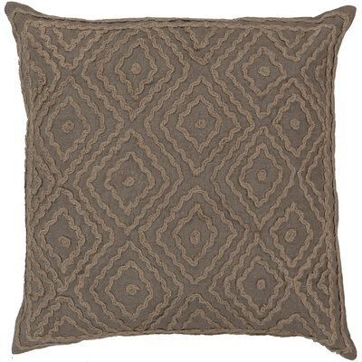 Quinnie Diamond Linen Throw Pillow Size: 18 H x 18 W x 4 D, Color: Slate Green / Olive Gray, Filler: Polyester