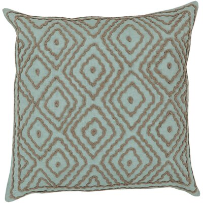 Quinnie Diamond Linen Throw Pillow Size: 22 H x 22 W x 4 D, Color: Robins Egg Blue / Driftwood Brown, Filler: Polyester