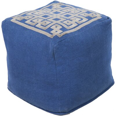 Cheyanna Pouf Upholstery: Mediterranean Blue/Slate Green