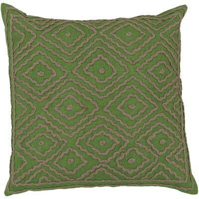 Marcos Diamond Throw Pillow Size: 20 H x 20 W x 4 D, Color: Peridot / Olive Gray, Filler: Down