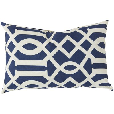 Winslow Scroll Outdoor Pillow Cover Color: Cobalt