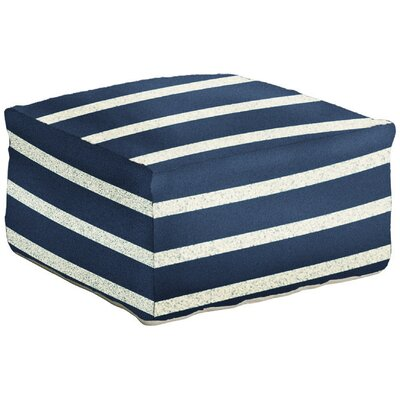 Mccormick Stripe Pouf Ottoman Upholstery: Atlantic Blue
