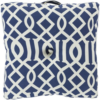 Winslow White Juxtaposed Outdoor Pillow Cover Color: Cobalt