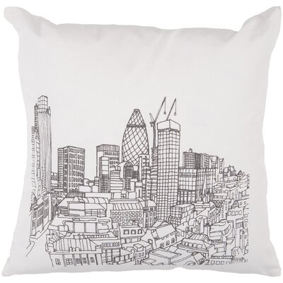 Cropper Skyline Throw Pillow Size: 18, Filler: Polyester