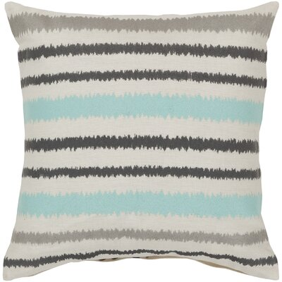 Vertical Stripes Linen Throw Pillow Size: 18 H x 18 W x 4 D, Color: Papyrus/Pewter/Flint Gray, Filler: Polyester