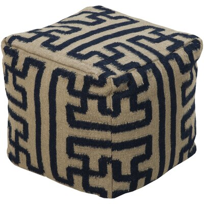 Copeland Pouf Ottoman Upholstery: Olive/Charcoal
