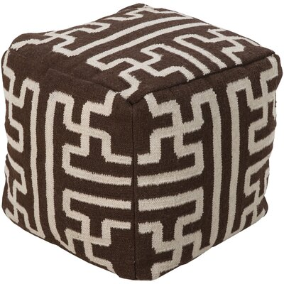 Copeland Pouf Upholstery: Chocolate/Beige
